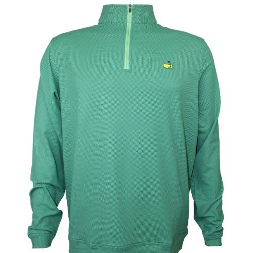 Masters Peter Millar Augusta Pines Checkered Performance 1/4 Zip Pullover