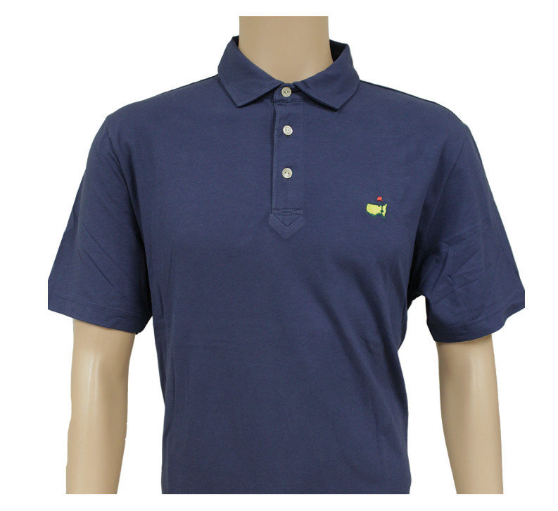 Masters Peter Millar Clubhouse Navy Jersey Golf Shirt