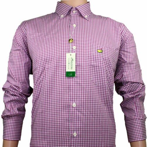 Masters Peter Millar Dress Shirt - Rosebud Checkered Pattern