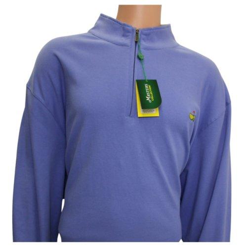 Masters Peter Millar Periwinkle Cotton Quarter Zip Pullover