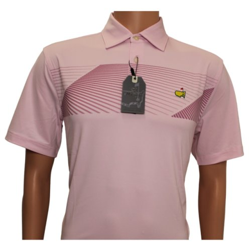 Masters Pink Performance Tech Shirt with Merlot Design - Small Only