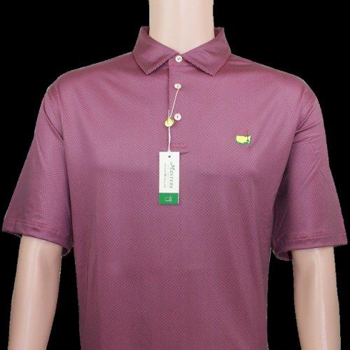 Masters Pink Triangle Pattern Peter Millar Performance Tech Golf Shirt