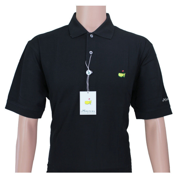 Masters Polo Shirt - Black - 100% Pima Cotton