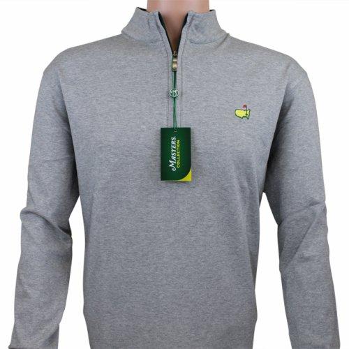 Masters Quarter Zip Cotton Pullover- Grey