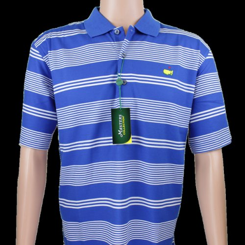 Masters Royal Blue and White Striped Polo - 100% Pima Cotton (pre-order)