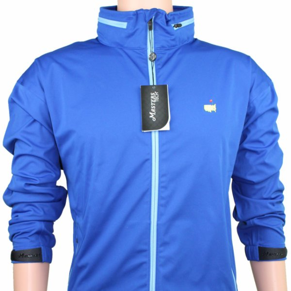 Masters Royal Blue Tech Windbreaker with Hood - Full Zip
