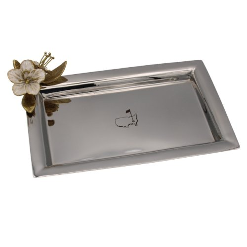 Masters Silver Tray with Floral Art by Michael Aram