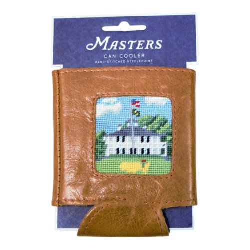 Masters Smathers & Branson Hand Stitched Needlepoint Koozie - Clubhouse