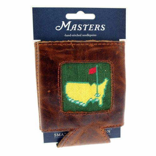Masters Smathers & Branson Hand Stitched Needlepoint Koozie - Green (pre-order)