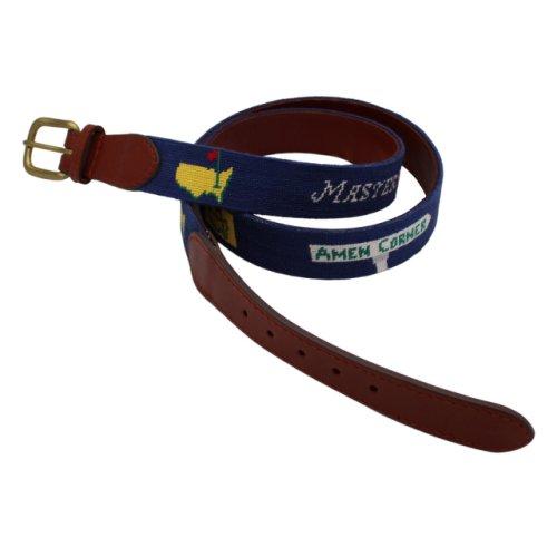 Masters Smathers & Branson Needlepoint Navy Icon Belt