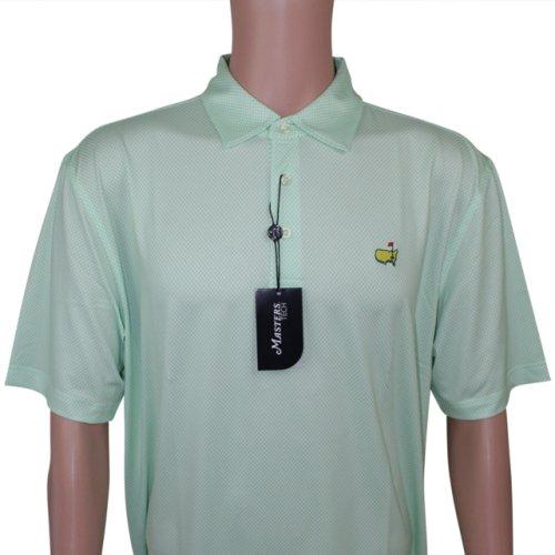 2aeaa8f7c12 Masters Spring Green Pattern Performance Tech Golf Shirt