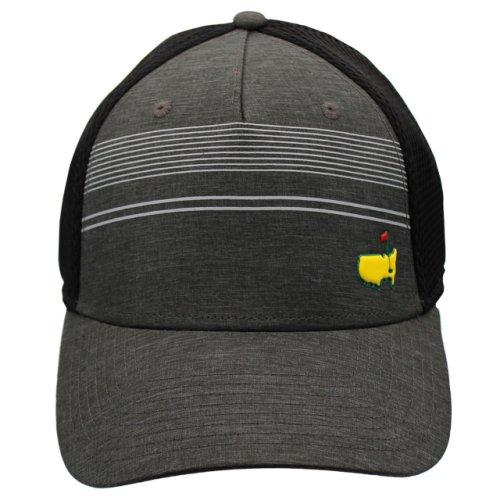 Masters Striped Performance Mesh Back Hat - Black/Grey