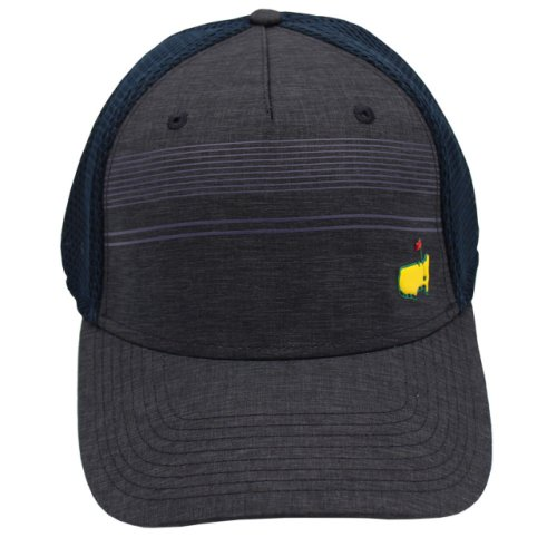 Masters Striped Performance Mesh Back Hat - Navy