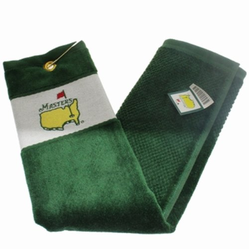 Masters Tri Fold Golf Towel - Green/White
