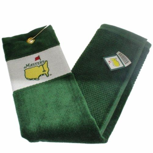 Masters Tri Fold Golf Towel - Green/White (pre-order)