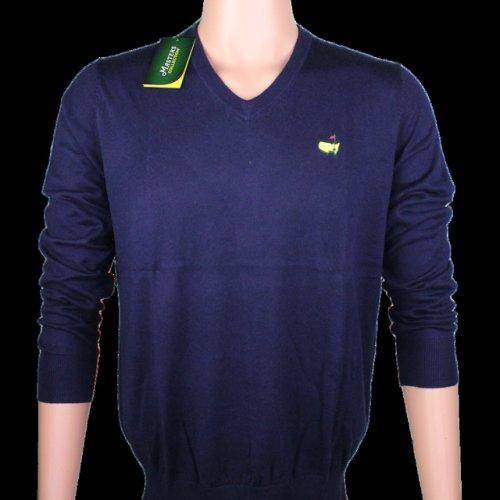 Masters V Neck Long Sleeve Sweater - Navy