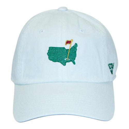 Masters White Caddy Slouch Hat with Embroidered Logo - 1934 Collection