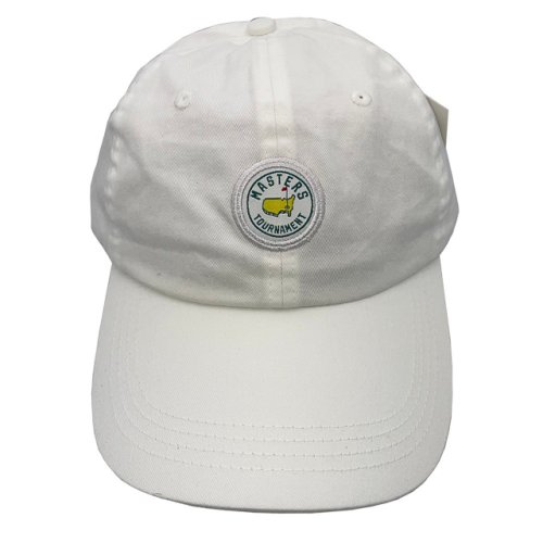 Masters White Cotton Hat with Circle Patch