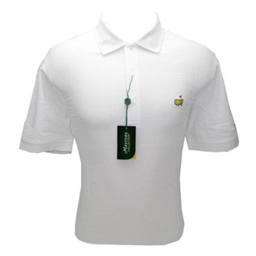 Masters White Jersey Golf Shirt