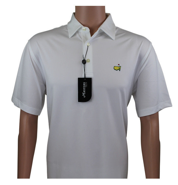 Masters White Performance Golf Shirt