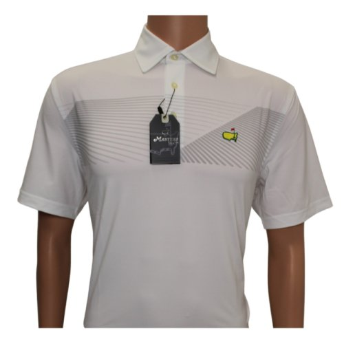 Masters White with Grey Design Tech Shirt - Small Only