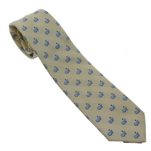 Masters Yellow & Light Blue Logo Neck Tie