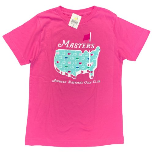 Masters Youth Girls Pink Logo T-Shirt