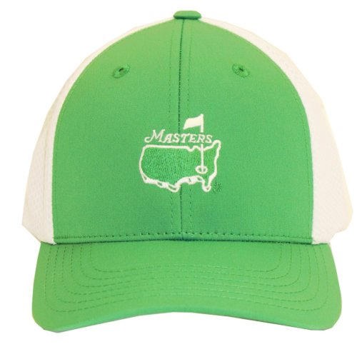 Masters Youth Green and White Hat with Mesh Back