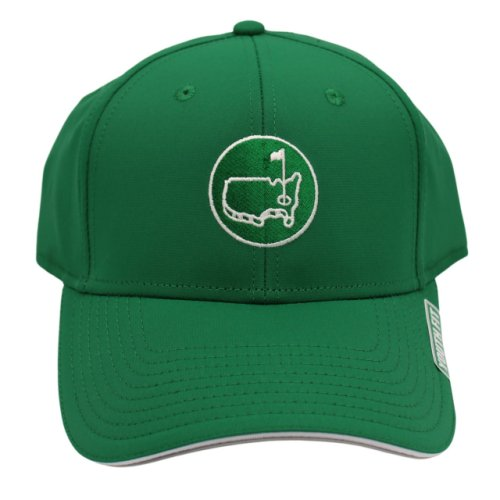 Masters Youth Green Performance Hat with Round Logo