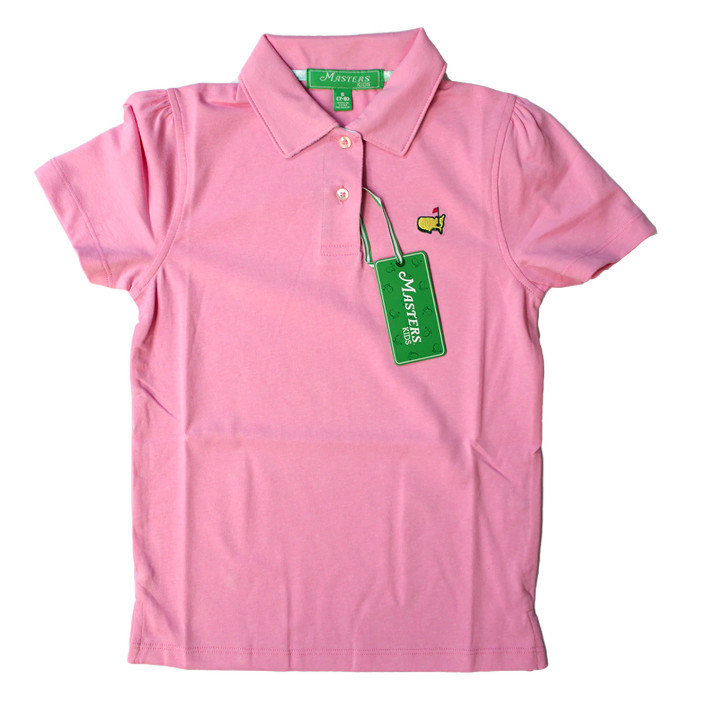 Masters Youth Pink Girls Golf Shirt