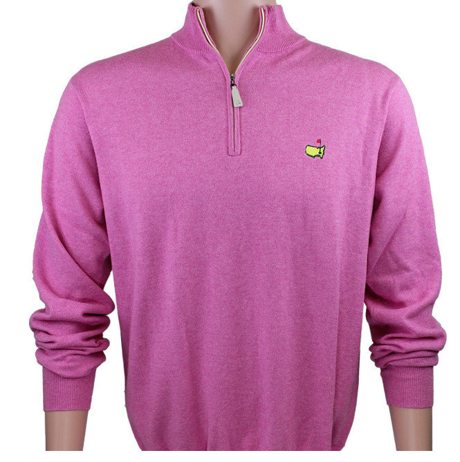 Peter Millar Masters 1/4 Zip Cotton/Cashmere Pullover - Pink