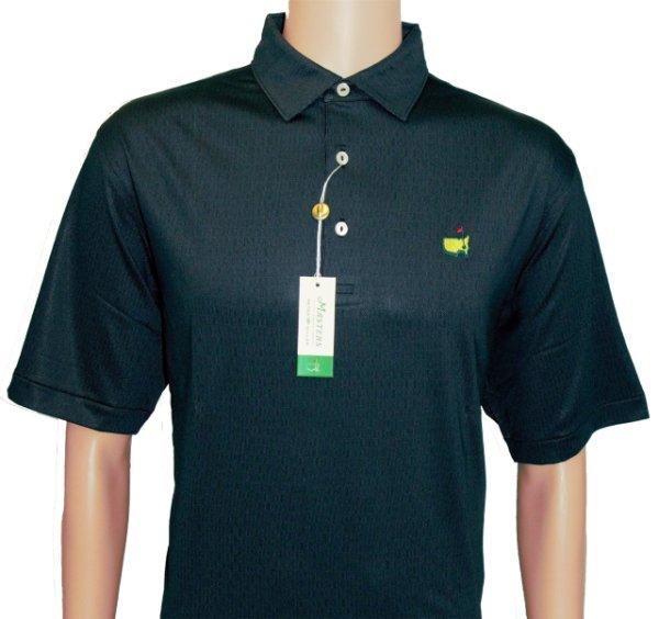 Peter Millar Masters Black Pattern Performance Tech Shirt