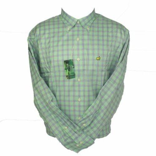Peter Millar Masters Dress Shirt - Spring Green Plaid