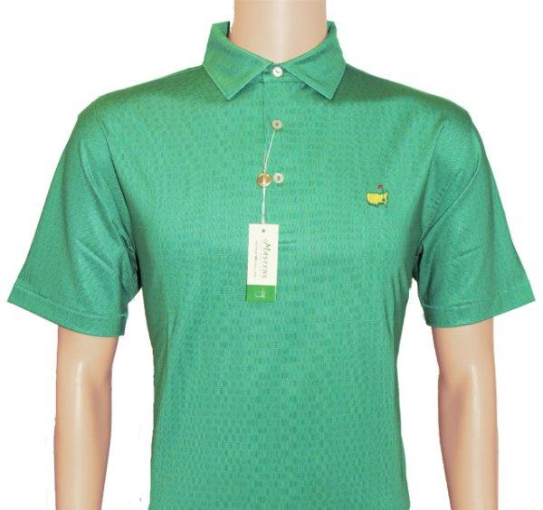 Peter Millar Masters Green Pattern Performance Tech Golf Shirt