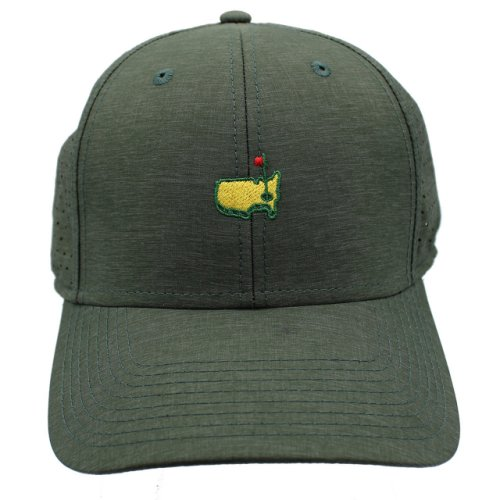 Undated Masters Green Peformance Tech Hat with Perforation