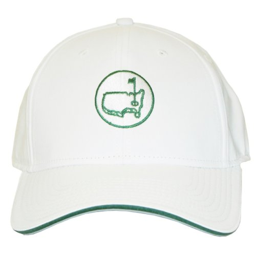 White Performance Hat with Round Masters Logo