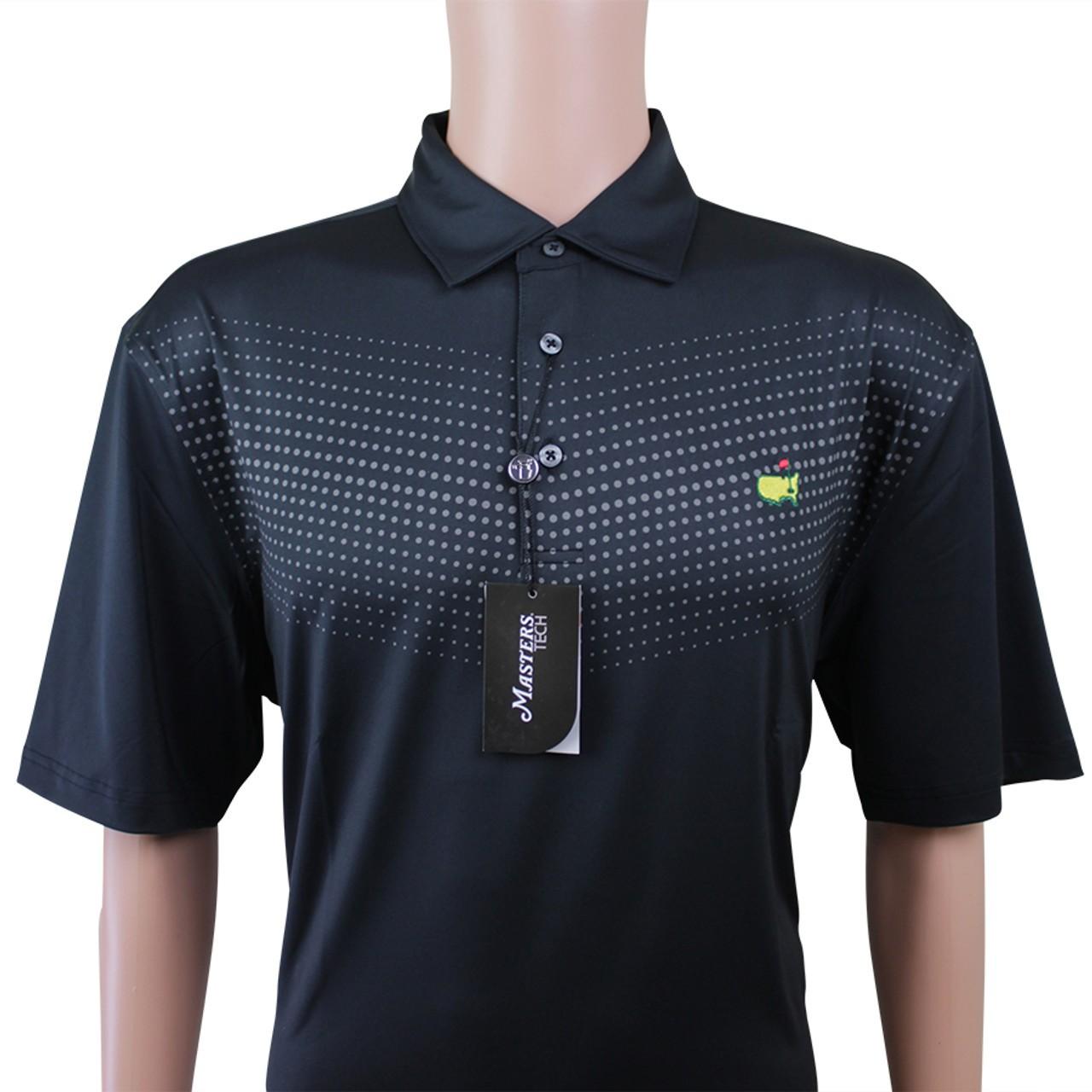 c3fa9959c16 Masters Black Dotted Pattern Performance Tech Golf Shirt