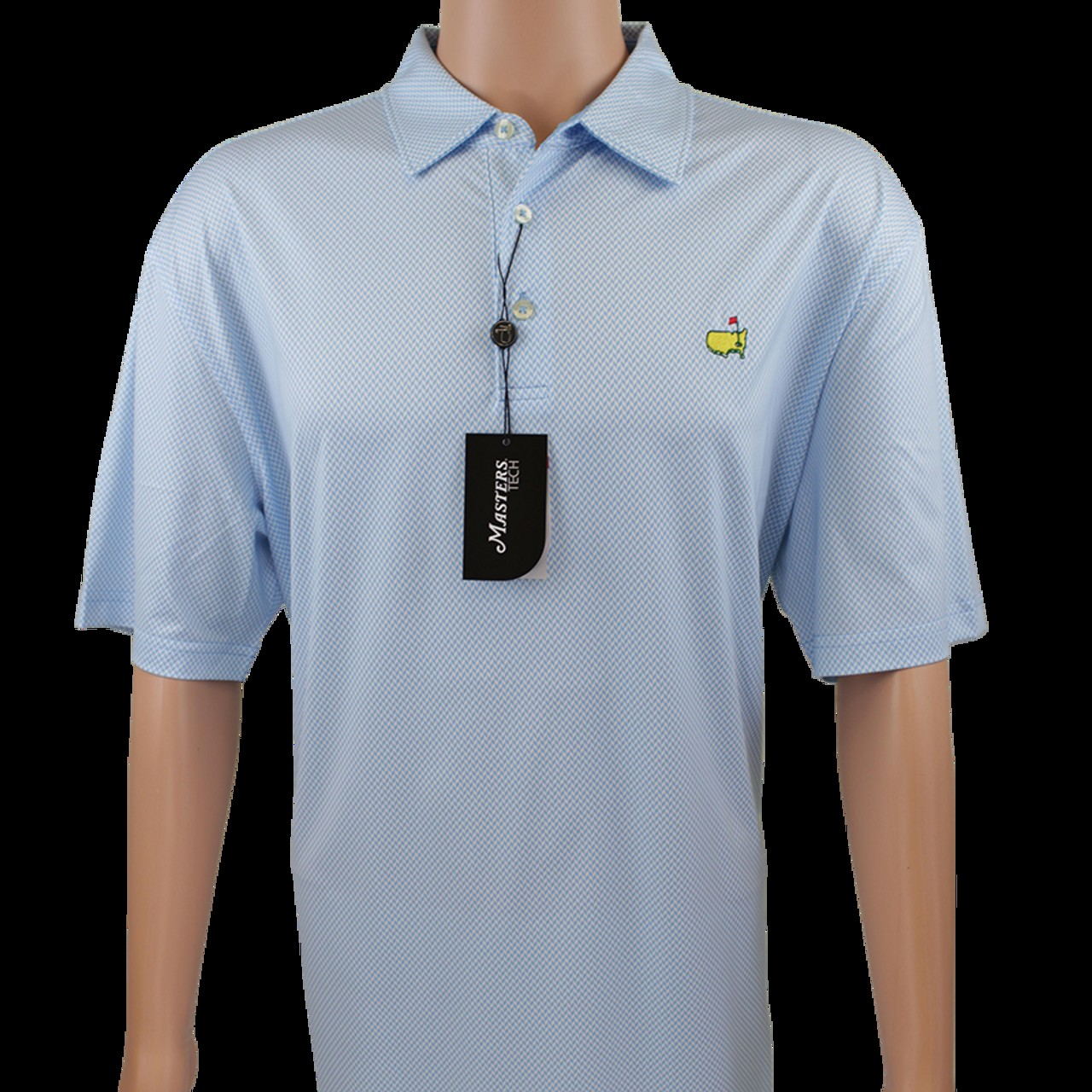 155cb8348 Masters Sky Blue Pattern Performance Tech Golf Shirt
