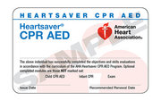 Heartsaver CPR and AED (December 2 at 6:00 pm)