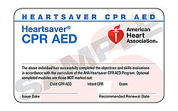 Heartsaver CPR and AED (October 6 at 6:00 pm)