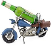 Blue Vintage Motorcycle Sculptured Metal Wine Holders Gift Basket (Blue Vintage Motorcycle)