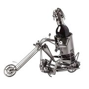 Motorcycle--Long Front Sculptured Metal Wine Holders Gift Basket (Motorcycle--Long Front)