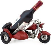 Red Vintage Wine holder Sculptured Metal Wine Holders Gift Basket (Red Vintage Wine holder)
