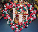 Heart-Red/Green Gift Basket
