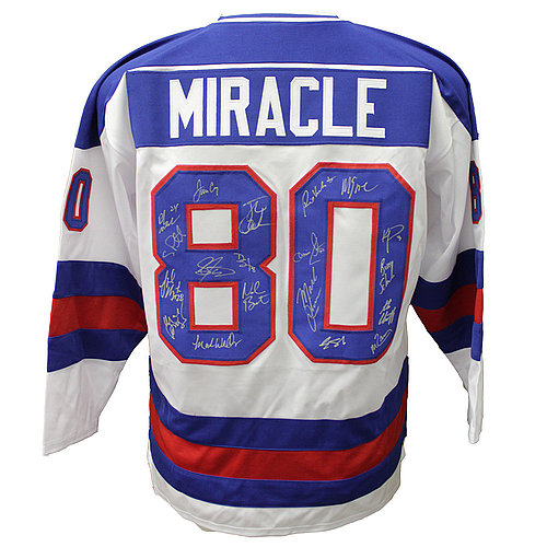 1980 ''Miracle on Ice'' USA Hockey Team Signed Jersey with 19 Signatures