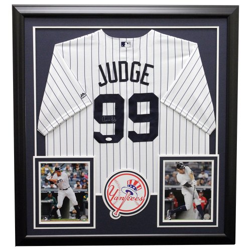 Aaron Judge New York Yankees Framed Autographed Jersey - JSA Authentic
