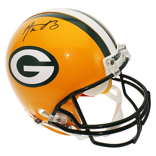 Aaron Rodgers Autographed Green Bay Packers Full Size Proline Helmet - Certified Authentic
