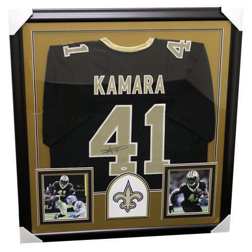 Alvin Kamara New Orleans Saints Framed Autographed Custom Jersey - PSA/DNA Certified Authentic