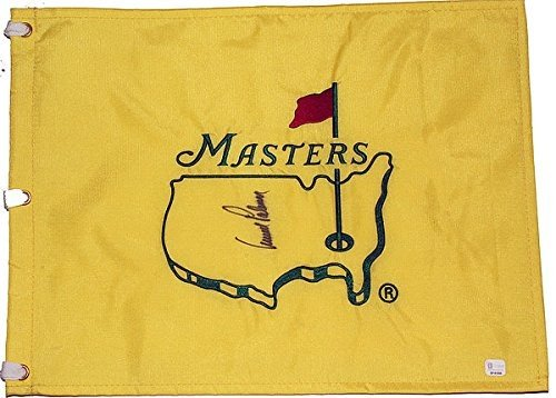 Arnold Palmer Autographed Undated Masters Flag - PSA/DNA