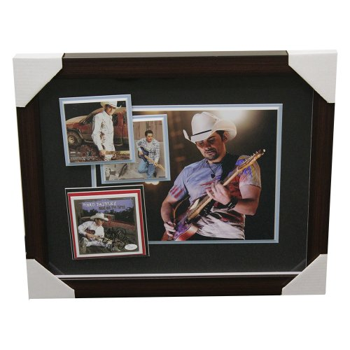 Brad Paisley Framed Autographed Album Artwork and Photos - JSA Authentic
